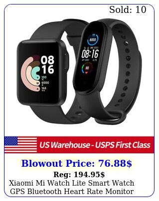xiaomi mi watch lite smart watch gps bluetooth heart rate monitor xiaomi ban