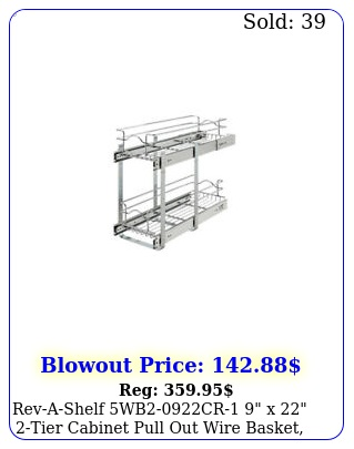 revashelf wbcr x tier cabinet pull out wire basket chrom