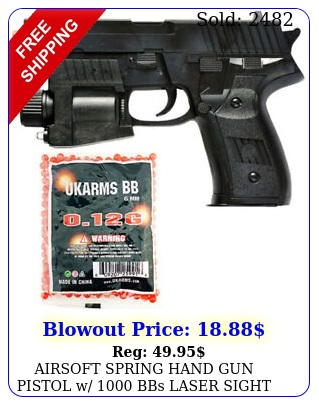 airsoft spring hand gun pistol w bbs laser sight led flashlight mm b