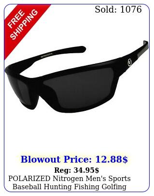 polarized nitrogen men's sports baseball hunting fishing golfing wrap sunglasse