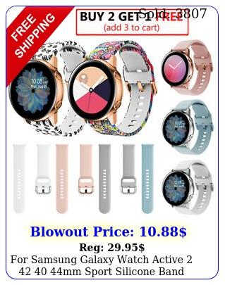 samsung galaxy watch active  mm sport silicone band bracelet stra