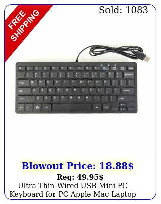 ultra thin wired usb mini pc keyboard pc apple mac laptop notebook