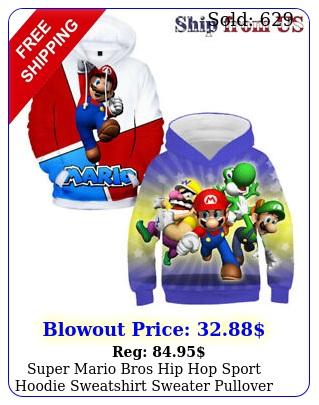 super mario bros hip hop sport hoodie sweatshirt sweater pullover jacket coa