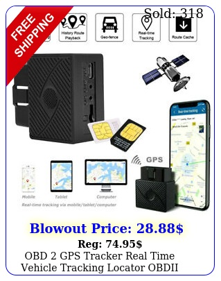 obd gps tracker real time vehicle tracking locator obdii device car truc