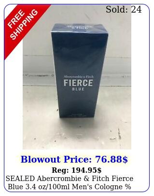 sealed abercrombie fitch fierce blue ozml men's cologne authenti