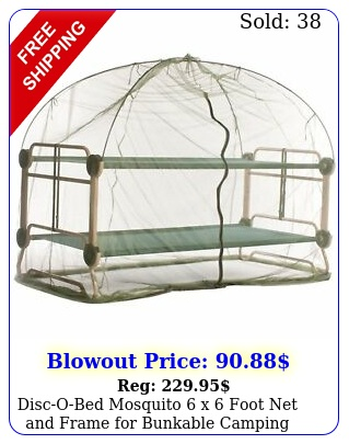 discobed mosquito x foot net frame bunkable camping cot gree