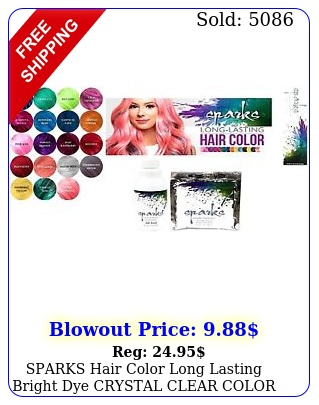 sparks hair color long lasting bright dye crystal clear color free shippin