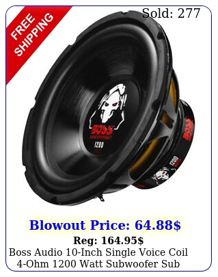 boss audio inch single voice coil ohm watt subwoofer su