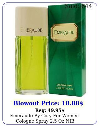 emeraude by coty women cologne spray oz ni