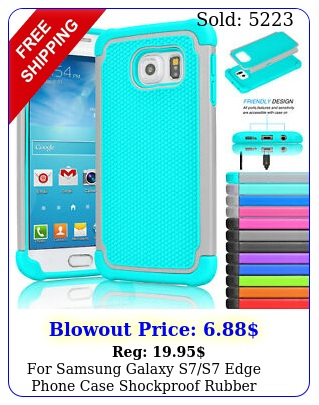 samsung galaxy ss edge phone case shockproof rubber silicone hybrid cove