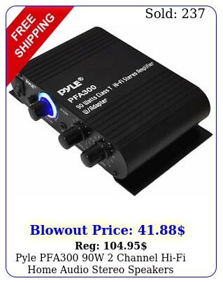 pyle pfa w channel hifi home audio stereo speakers amplifier wau