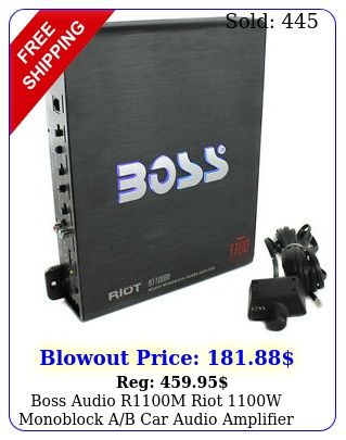 boss audio rm riot w monoblock ab car audio amplifier bass remot