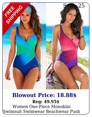 women onepiece monokini swimsuit swimwear beachwear push up bathing suit bikin