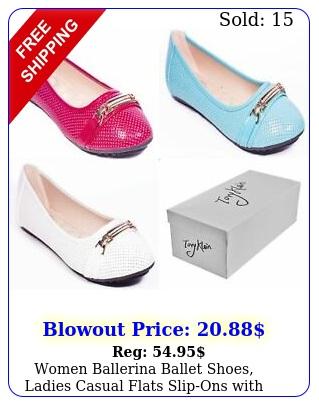 women ballerina ballet shoes ladies casual flats slipons with bracelet buckl