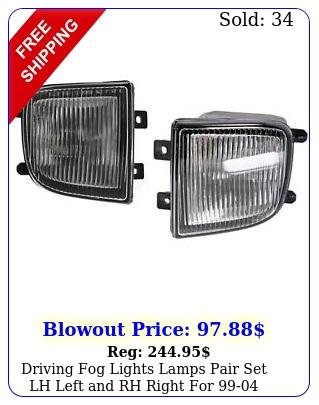 driving fog lights lamps pair set lh left rh right pathfinde