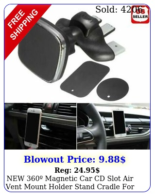 magnetic car cd slot air vent mount holder stand cradle phone gp