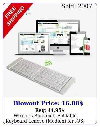 wireless bluetooth foldable keyboard lenovo medion ios android window