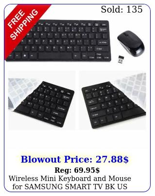 wireless mini keyboard mouse samsung smart tv bk u