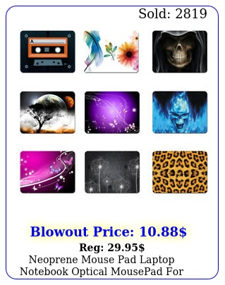 neoprene mouse pad laptop notebook optical mousepad asus dell hp mor