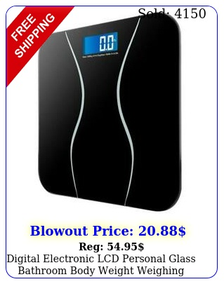 digital electronic lcd personal glass bathroom body weight weighing scale l