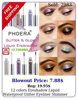 colors eyeshadow liquid waterproof glitter eyeliner shimmer makeup cosmetic