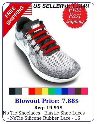 no tie shoelaces elastic shoe laces notie silicone rubber lace  piece