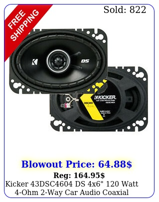 kicker dsc ds x watt ohm way car audio coaxial speakers pai
