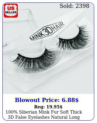siberian mink fur soft thick d false eyelashes natural long lashes handma