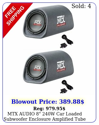 mtx audio w car loaded subwoofer enclosure amplified tube vented pac