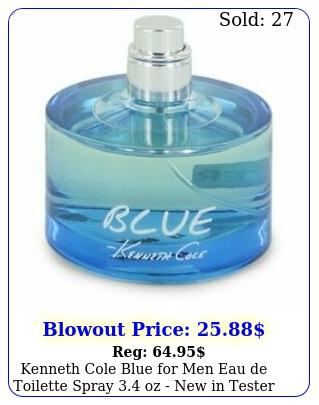 kenneth cole blue men eau de toilette spray oz in tester bo
