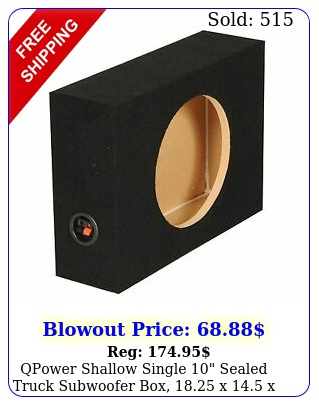 qpower shallow single sealed truck subwoofer box x x inc