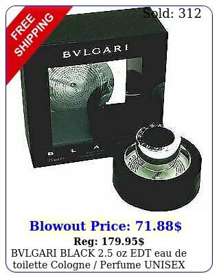bvlgari black oz edt eau de toilette cologne perfume unisex ni