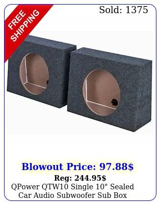 qpower qtw single sealed car audio subwoofer sub enclosures pac