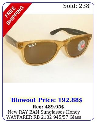ray ban sunglasses honey wayfarer rb  glass polarzed lense
