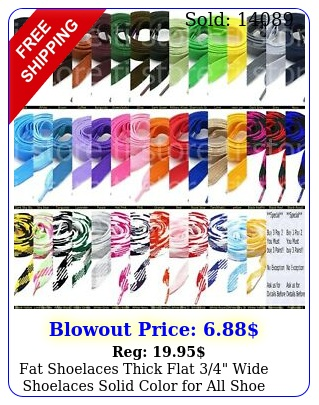 fat shoelaces thick flat wide shoelaces solid color all shoe type