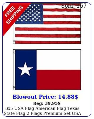 x usa flag american flag texas state flag flags premium set usa shippe