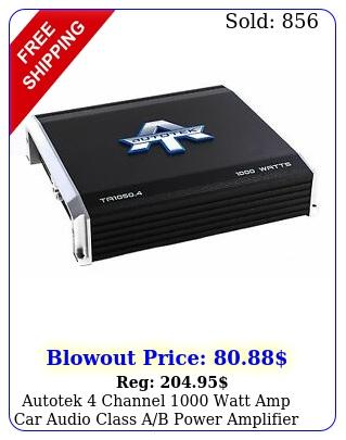 autotek channel watt amp car audio class ab power amplifier t