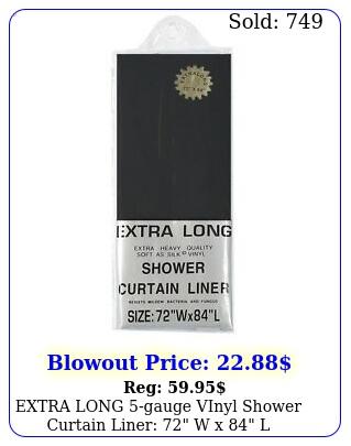 extra long gauge vinyl shower curtain liner w x