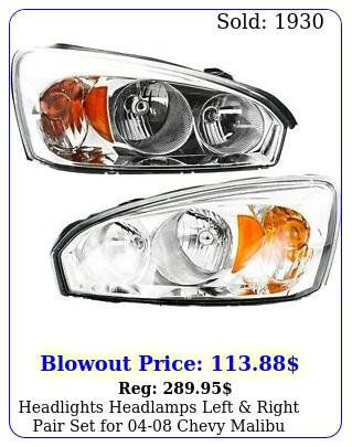 headlights headlamps left right pair set chevy malib
