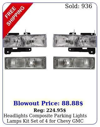 headlights composite parking lights lamps kit set of chevy gmc blazer c