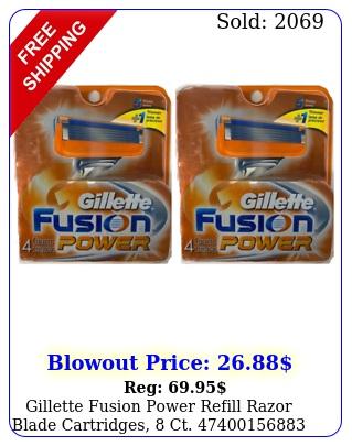 gillette fusion power refill razor blade cartridges c