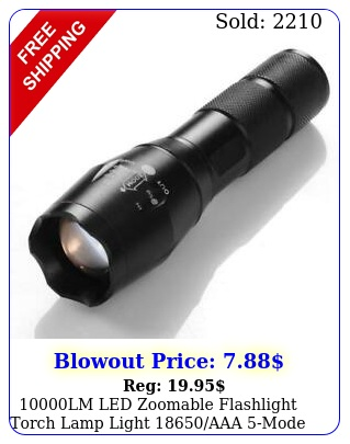 lm led zoomable flashlight torch lamp light aaa mod