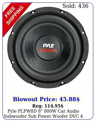 pyle plpwd w car audio subwoofer sub power woofer dvc ohm blac