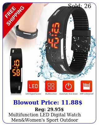 multifunction led digital watch menwomen's sport outdoor waterproof wrist ban