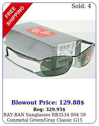 rayban sunglasses rb  gunmetal greengray classic