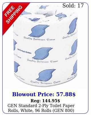 gen standard ply toilet paper rolls white rolls ge