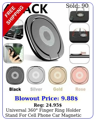 universal finger ring holder stand cell phone car magnetic metal plat