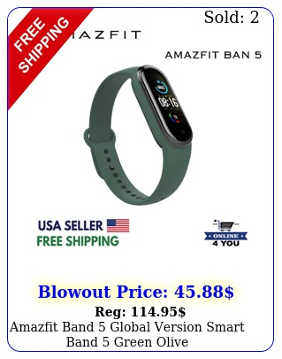 amazfit band global version smart band  green oliv