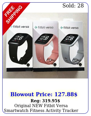 original fitbit versa smartwatch fitness activity tracker with l s strap
