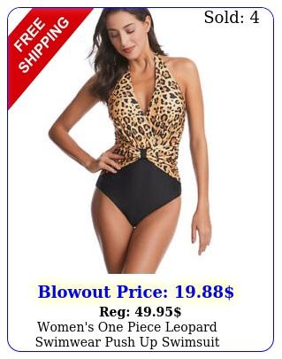 women's one piece leopard swimwear push up swimsuit beachwear swimming costum